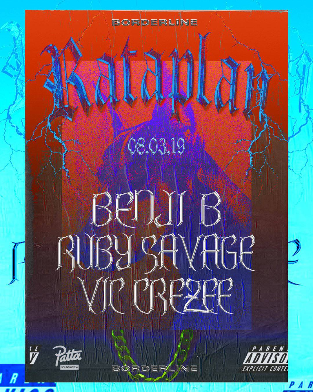 flyer for rataplan clubnight borderline