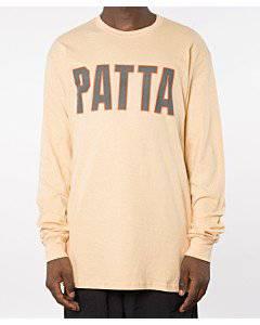 Patta Athletic Logo Longsleeve (Winter Wheat)