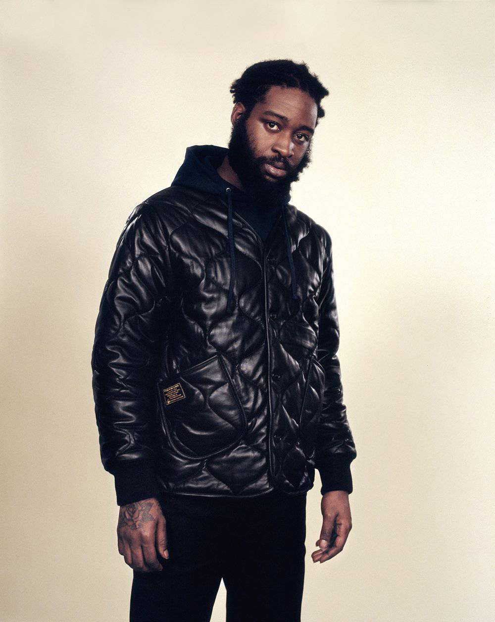 PATTA M-65 LEATHER LINER JACKET